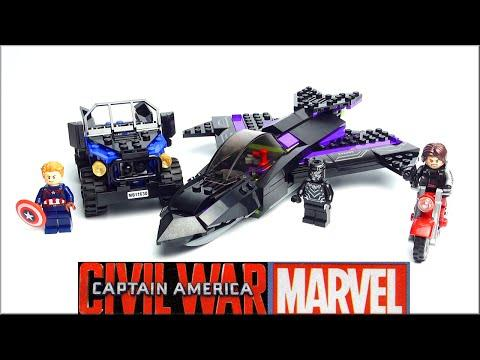 LEGO Marvel Super Heroes: Black Panther Pursuit 76047 Captain America Civil War - Speed Build Review