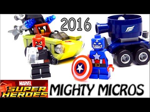 LEGO Marvel Super Heroes Обзор Mighty Micros Captain America Vs Red Skull 76065. Warlord Лего